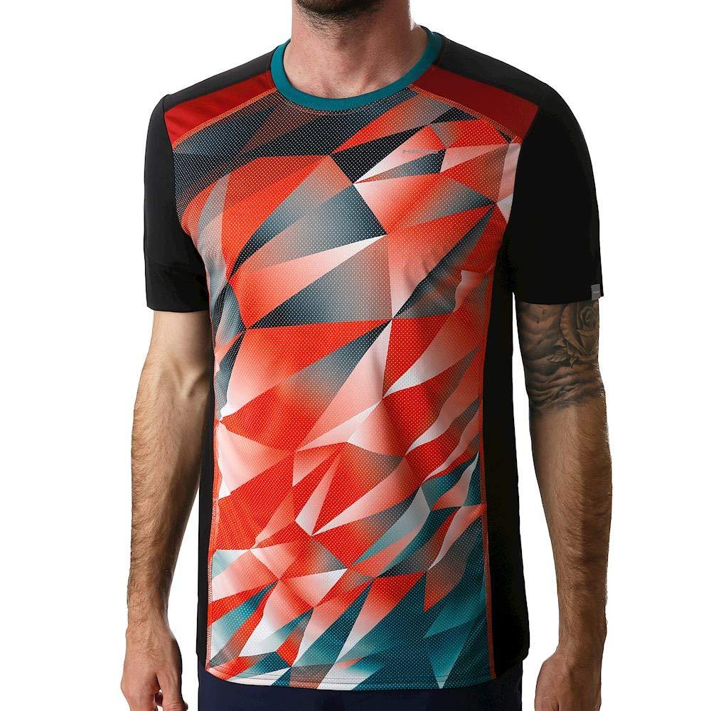 Head Camiseta Medley Negro Rojo: Amazon.es: Deportes y aire libre