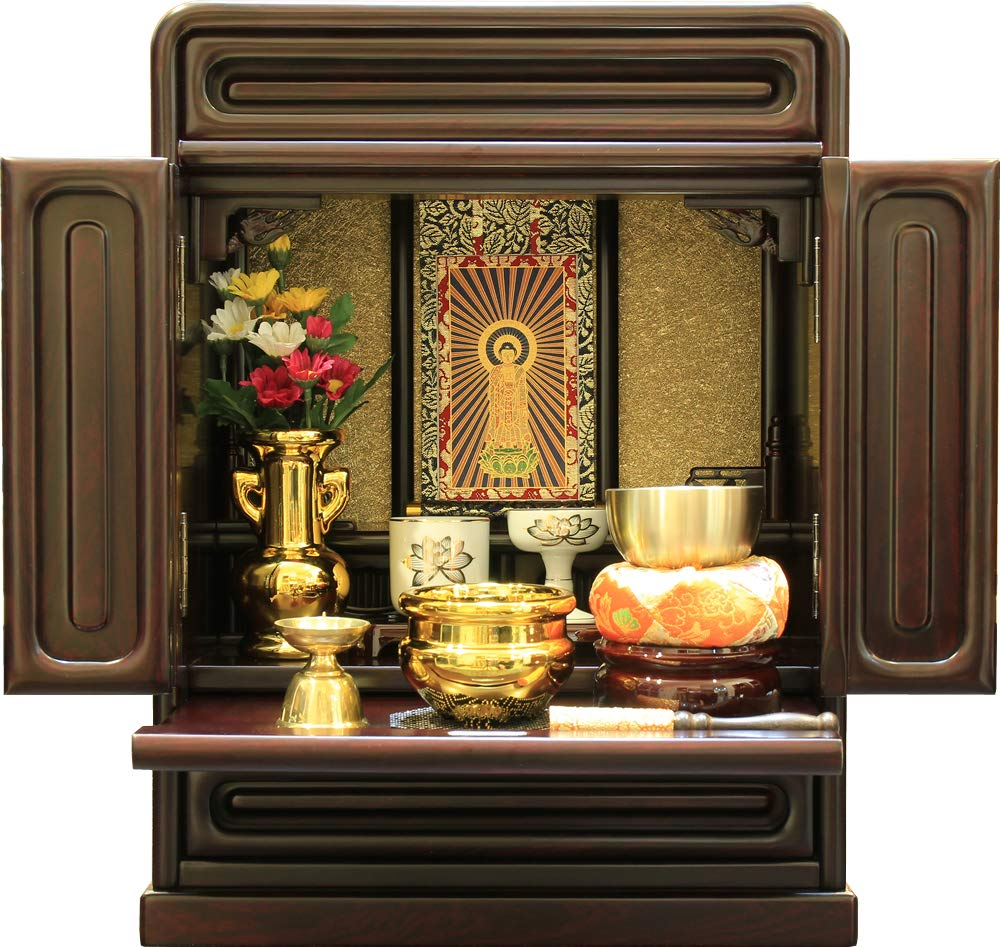 Matsuyama ritual articles shop, Buddhist altar upper-set mini, size 14, Buddhist ritual set Jodo-shu