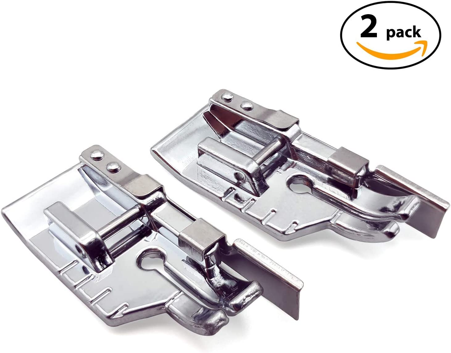 2PCS Border Guide Sewing Machine Presser Foot for All Low Shank Snap-On 15 Class Machines Addicted DEPO