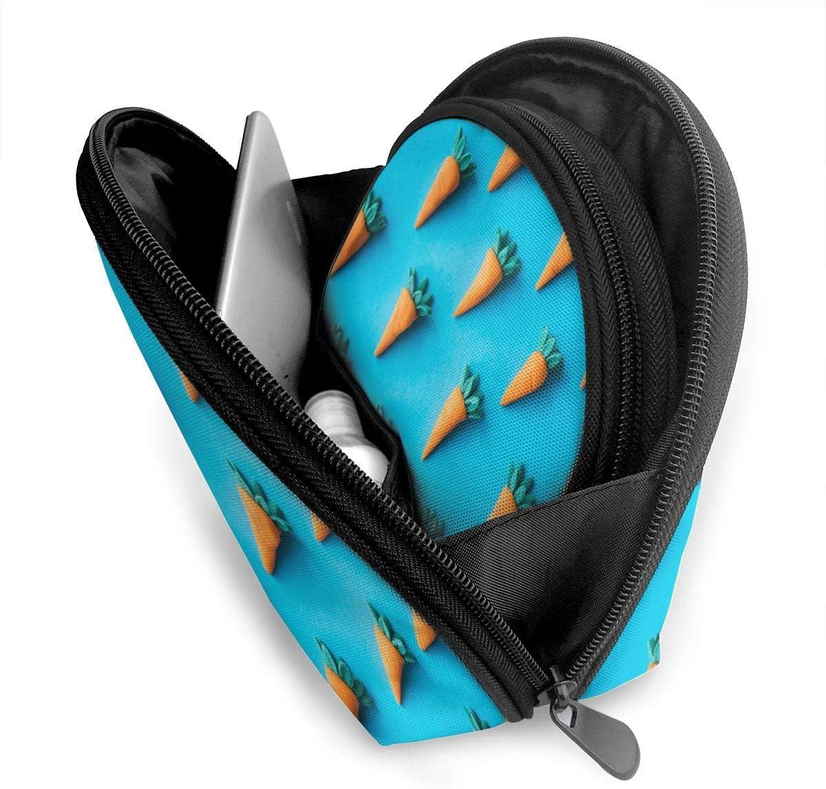 Bafrsc Personalized Carrot Plush Toys Womens Shell Shape Storage Bag Organizer Bag Gift 2Pcs