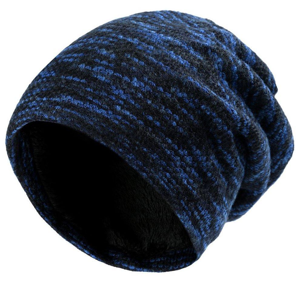 Slouch Mütze Hut Baggy Skull Cap Mütze mit Warm gefüttert Unisex Retro Slouchy übergroßen Ski Wintermütze