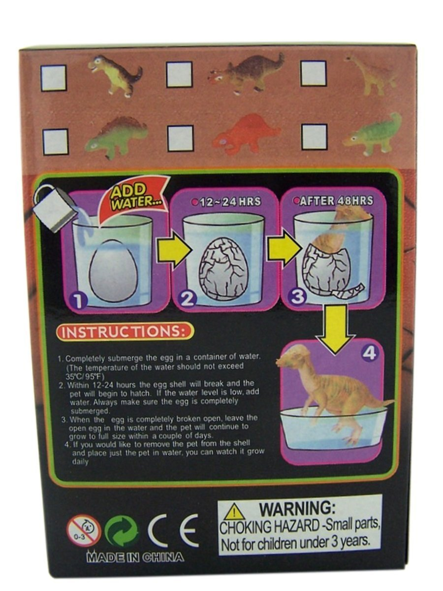 Magic Growing Surprise Dinosaur Pet Hatching Egg Kids Toy Pack of 2 New Dimensions