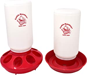 Cackle Hatchery Chick Feeder and Waterer Combo