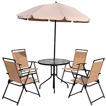 Outsunny - Balancín de jardín Patio Textilene sillas ...