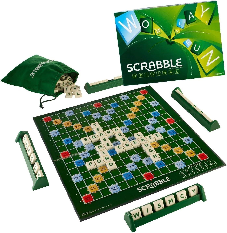 Mattel Scrabble - Juego Original [versión en inglés]: Amazon.es: Juguetes y juegos