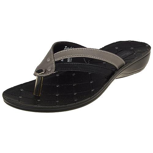 ce6d0dc696aeeb Lakhani Women s Black   Grey Rexine Athletic   Outdoor Sandals (9 Uk ...