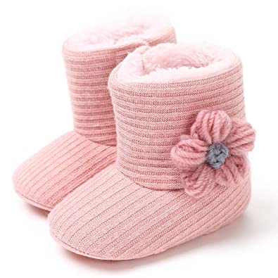 18671b75bb96 Amazon.com  Baby Infant Snow Boots Fur Anti-Slip Soft Sole Newborn ...