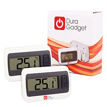 Amazon.com : Twin-Pack Indoor LCD Room Temperature Thermometer ...