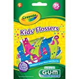 Sunstar 897RZ GUM Crayola Kids' Flosser (Pack of 75)
