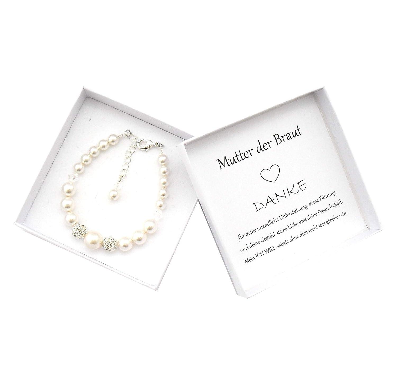 Br/äutigammutter Geschenk Armband Br/äutigammama Hochzeit Geschenkbox personalisiert