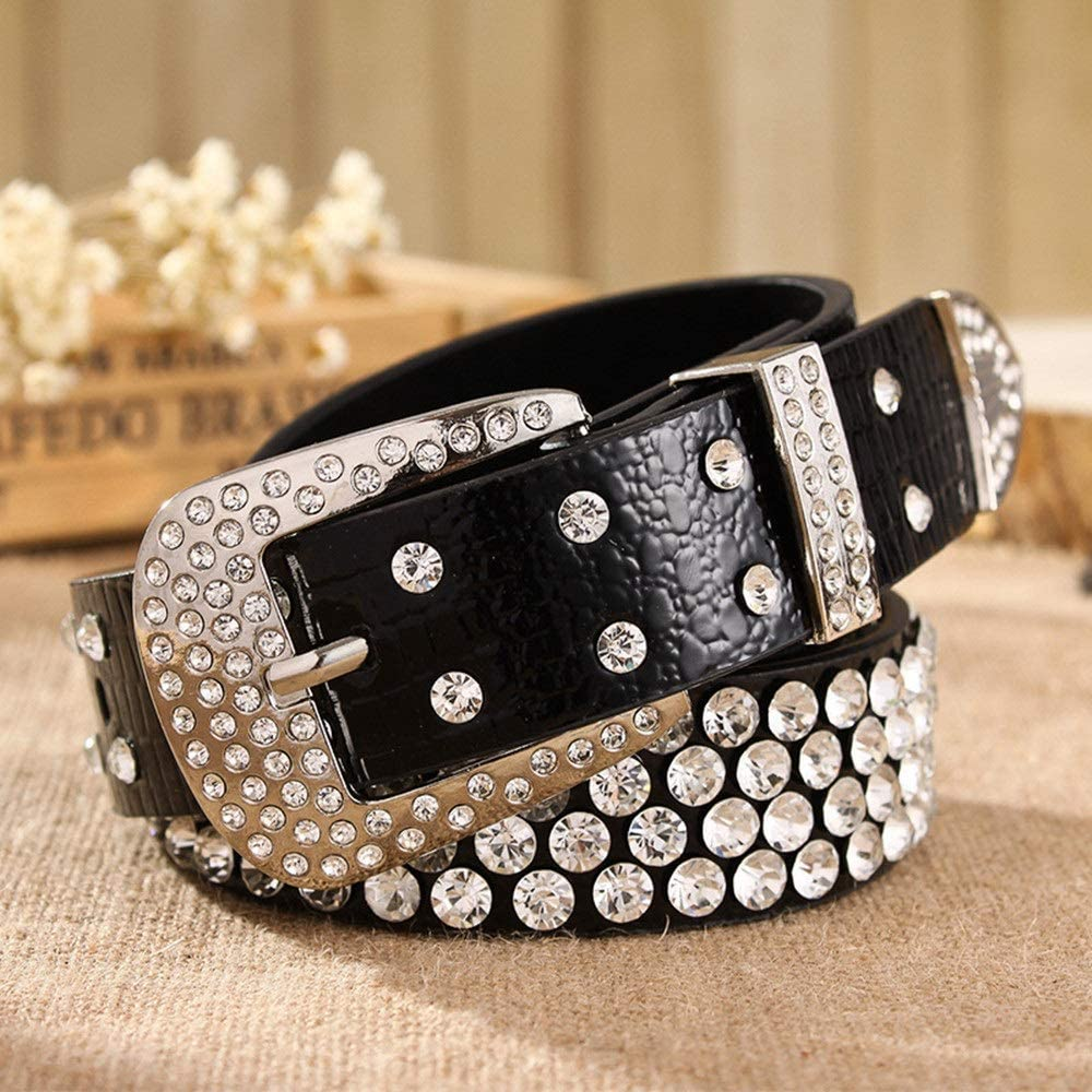 Mens Leather Studded Belt Leather Lady Belt Women's