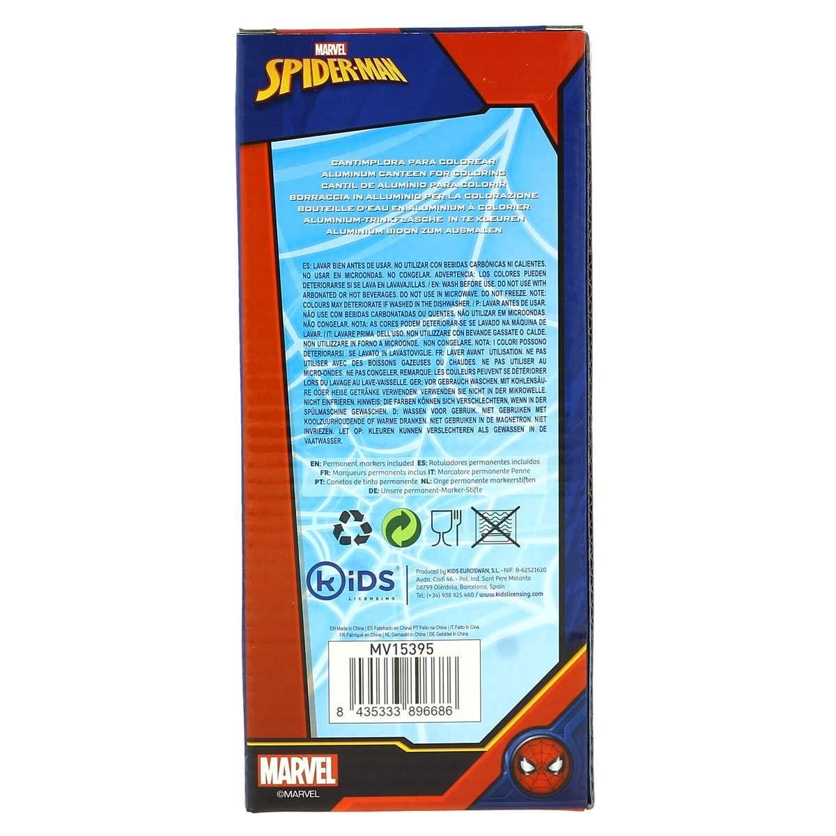Trinkflasche Kartonpapier aus Aluminium 500/ml Spiderman