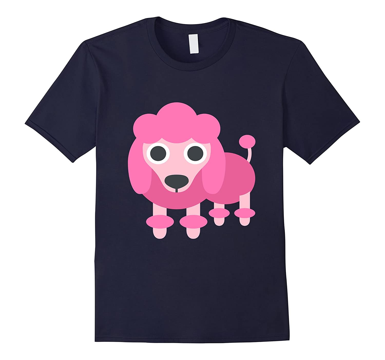 Pink Poodle Dog Cute Emoji Pet Puppy T Shirt Tee Kids Animal-ANZ
