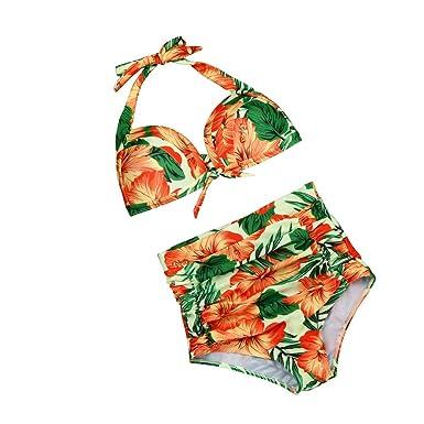 Proumy Conjunto de Traje de Baño Orange Bikini Colores ...