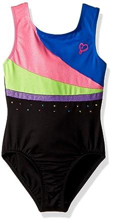c1d900309f65c Jojo Siwa By Danskin Girls' Big Iridescent Sparkle Gymnastics Leotard,  Black Combo, ...