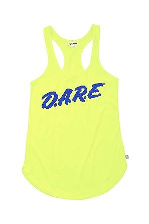 f0bab1a10634e Women s Neon Yellow Dare Shirt - 80 s Halloween Costume Shirt Tank Top ...