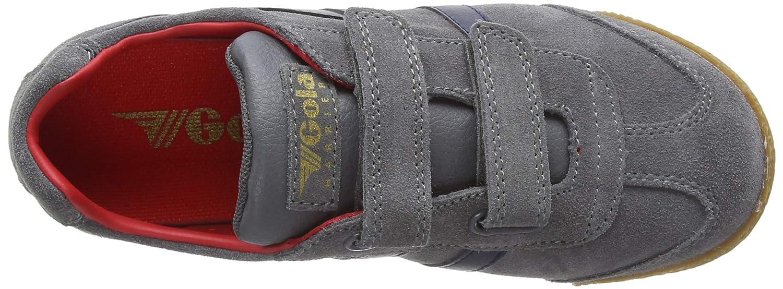 Gola Kids Harrier Velcro Sneaker CKA192-NAVY//SUN//RED