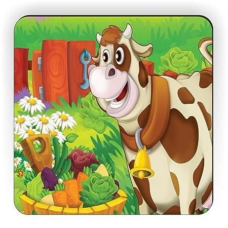 Rikki Caballero Cute Dibujos Animados de Vaca con Granja Verduras ...