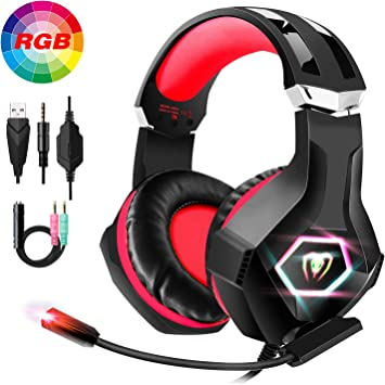FISHOAKY Auriculares Gaming para PS4, Cascos Gaming Premium Stereo ...