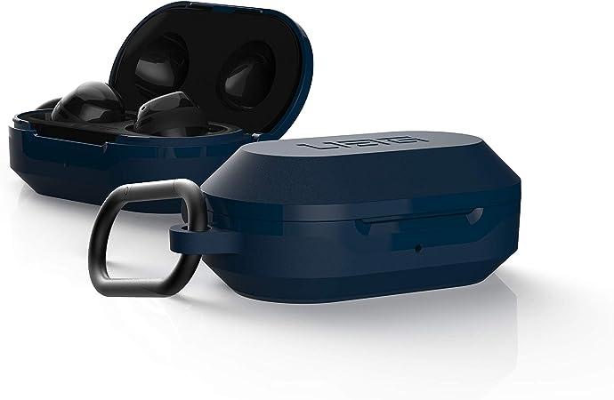 Urban Armor Gear Hardcase Für Samsung Galaxy Buds 2019 Buds Plus 2020 Hülle Wireless Charging Kompatibel Sturzfest Nach Militärstandard Mil Std 8105g Karabinerhaken Blau Mallard Elektronik