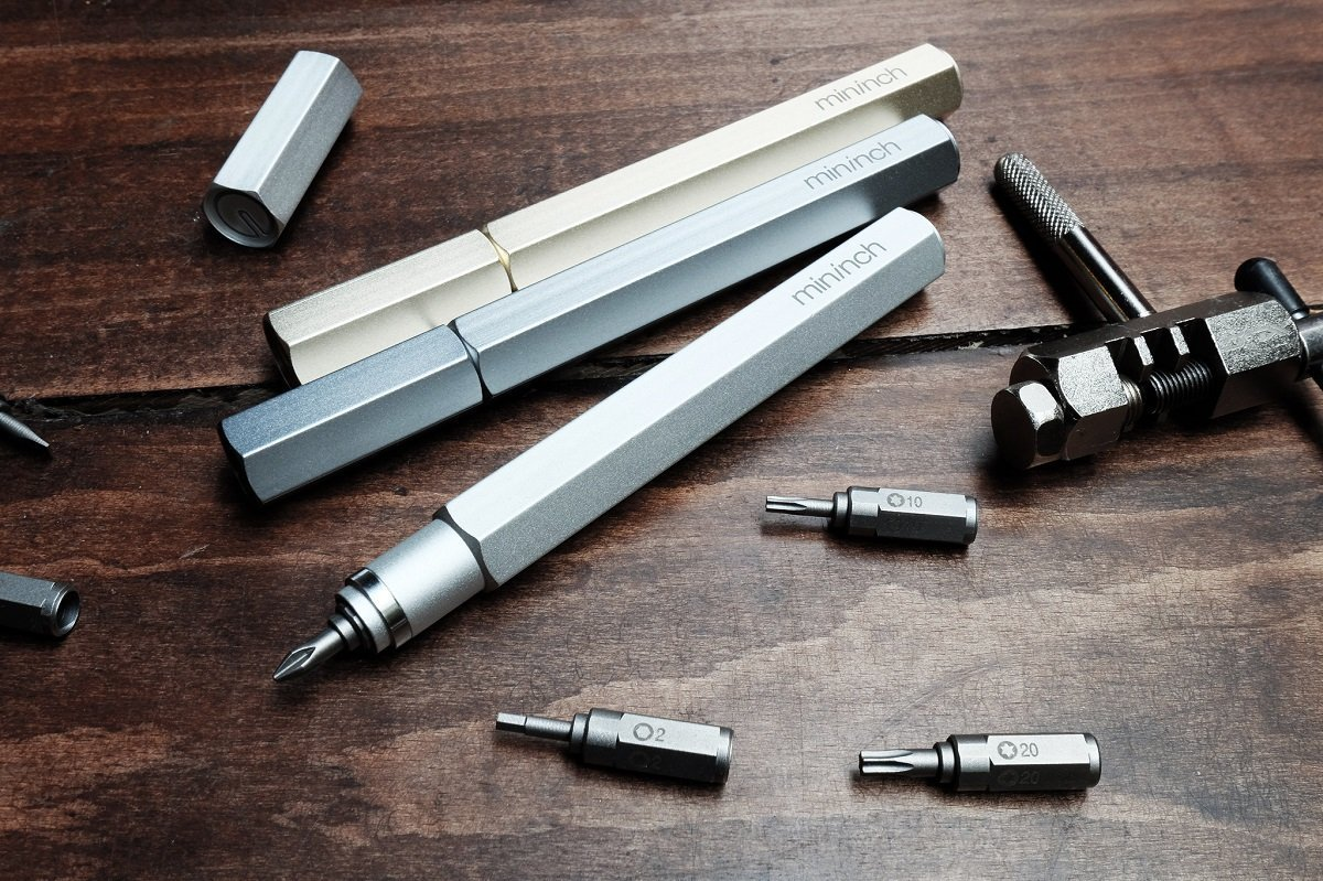 Premium Tool Pen by Mininch | EDC Multi-Tool Screwdriver | Interchangeable Phillips, Flathead, Hex, and Star Bolt Heads | Imperial and Metric Sizes - Imperial Hex by Mininch (Image #3)