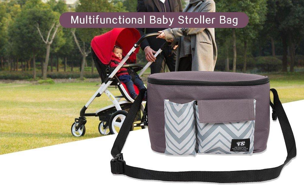 Bolsa organizadora multifuncional para cochecito de bebé Kidsidol, bolsa de viaje, bolsa de pañales pequeña, gran capacidad, durable, ajustable ...