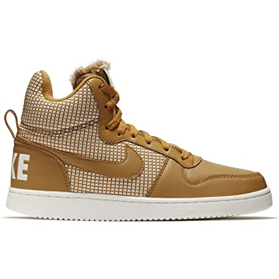 NIKE Damen WMNS Court Borough Mid Se Sneaker, Mehrfarbig (Wheat-Sail 700) 74d41eece5