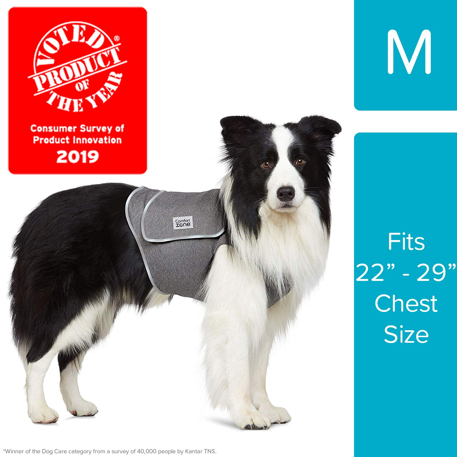 Comfort Zone Calming Vests for Dogs, for Thunder and Anxiety, Medium (22-29'' Chest) by Comfort Zone