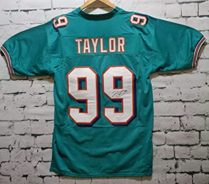 quality design 2b089 f2523 Jason Taylor Signed Autographed Miami Dolphins Football ...