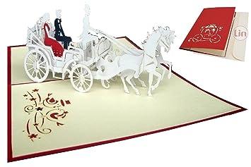 Lin Pop Up Karten Hochzeitskarten Hochzeitseinladungen 3d Karten