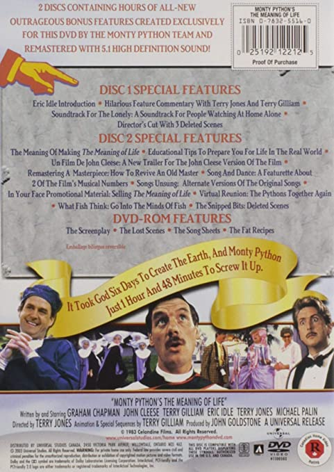 Monty Python S The Meaning Of Life Two Disc Collector S Edition Graham Chapman John Cleese Eric Idle Terry Gilliam Michael Palin Terry Jones Terry Jones John Goldstone Graham Chapman John Cleese Eric Idle