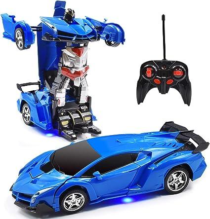 1:18 Transform Car Robot 2 IN 1 One Button Transforming Robot Remote Control Car