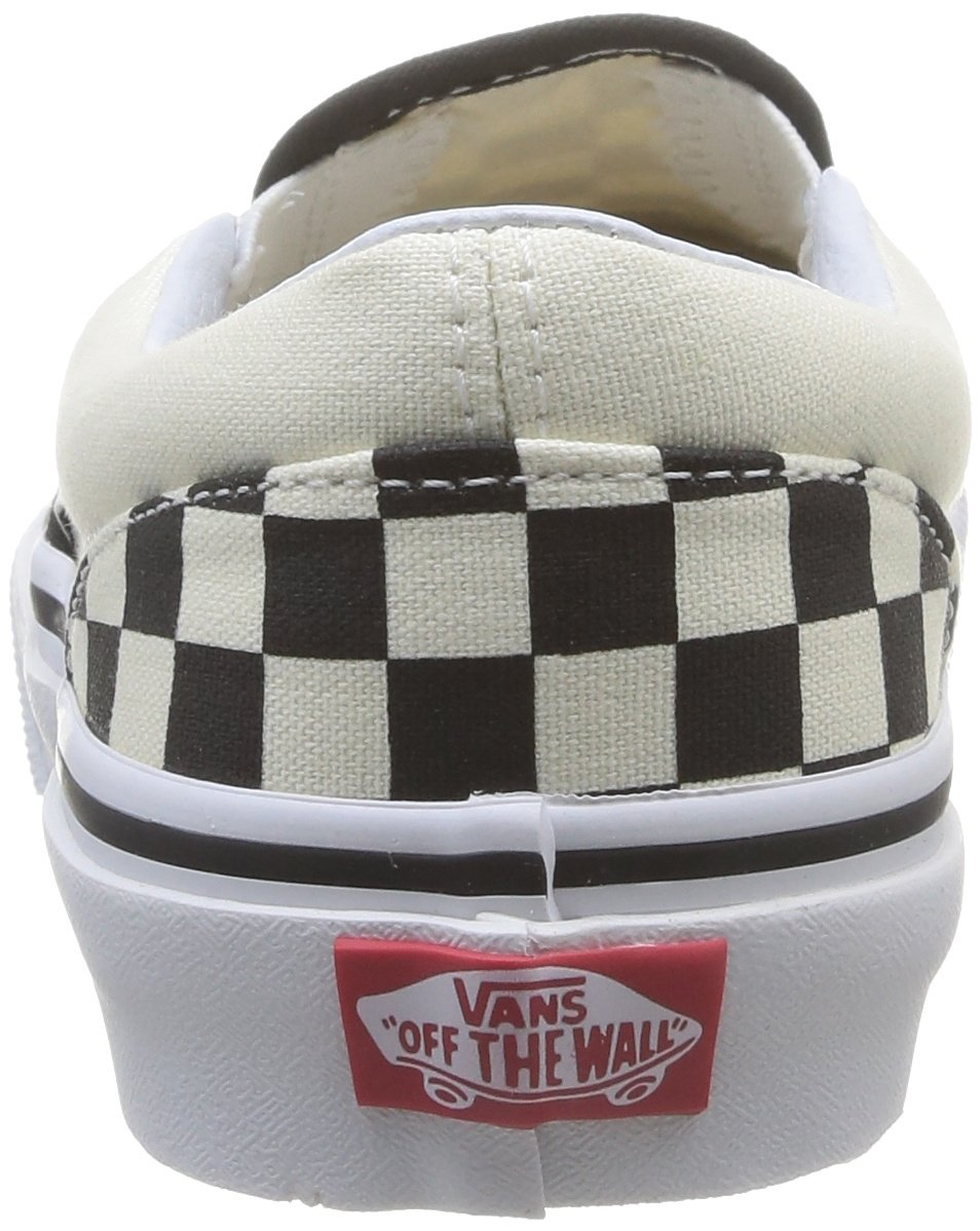 Vans Kids Classic Slip-On (Little Big Kid), ((Checkerboard) Black/White, 13 M by Vans (Image #2)