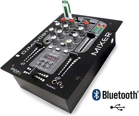 Ibiza Sound - Mesa de mezclas a 2 voces / 5 canales djm-150 usb-bt ...