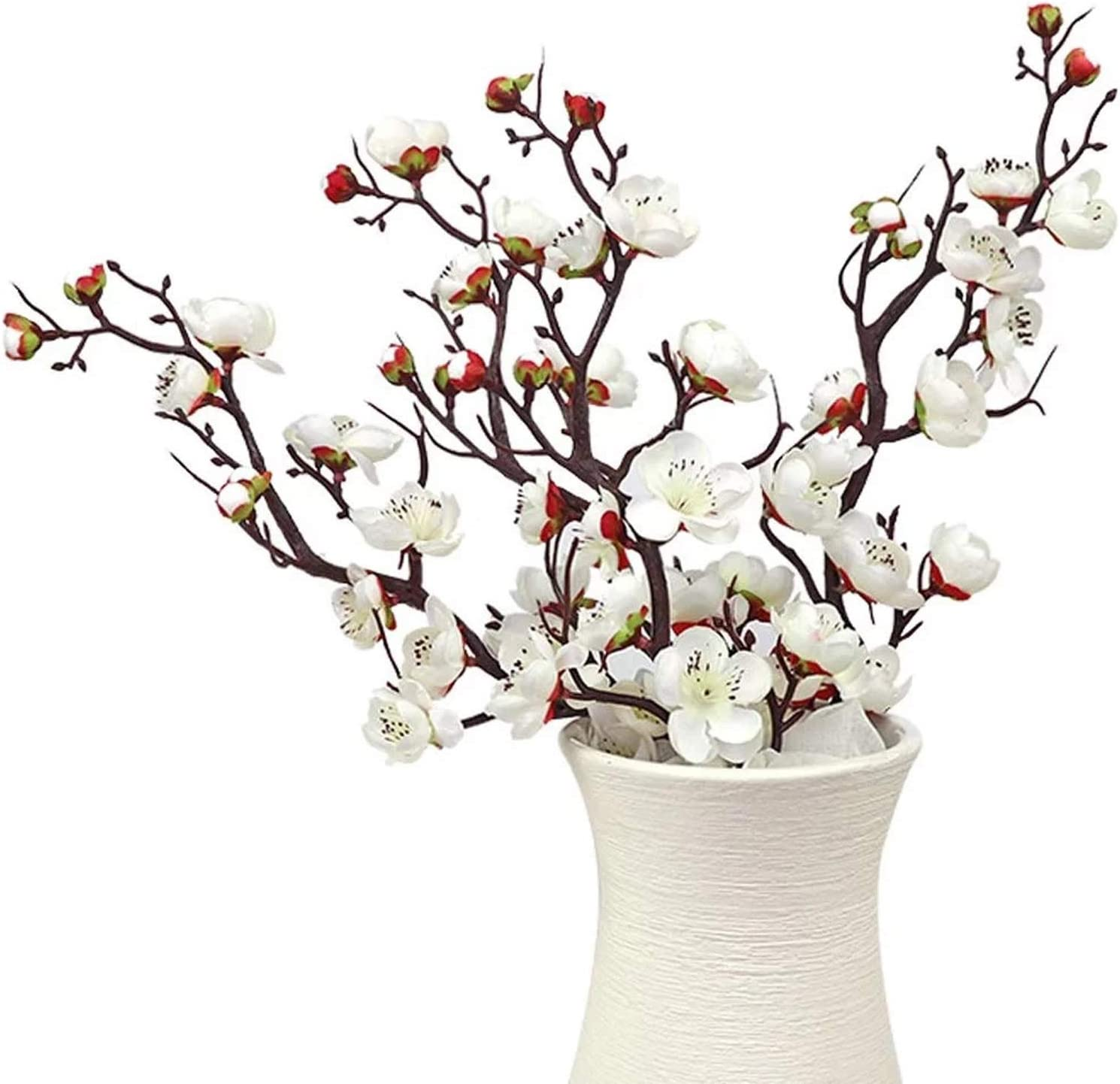 6 Pieces of Artificial Plum Blossom Artificial Flowers Artificial Flora Simulation Flowerfor Home Decorations Office Kitchen Weeding