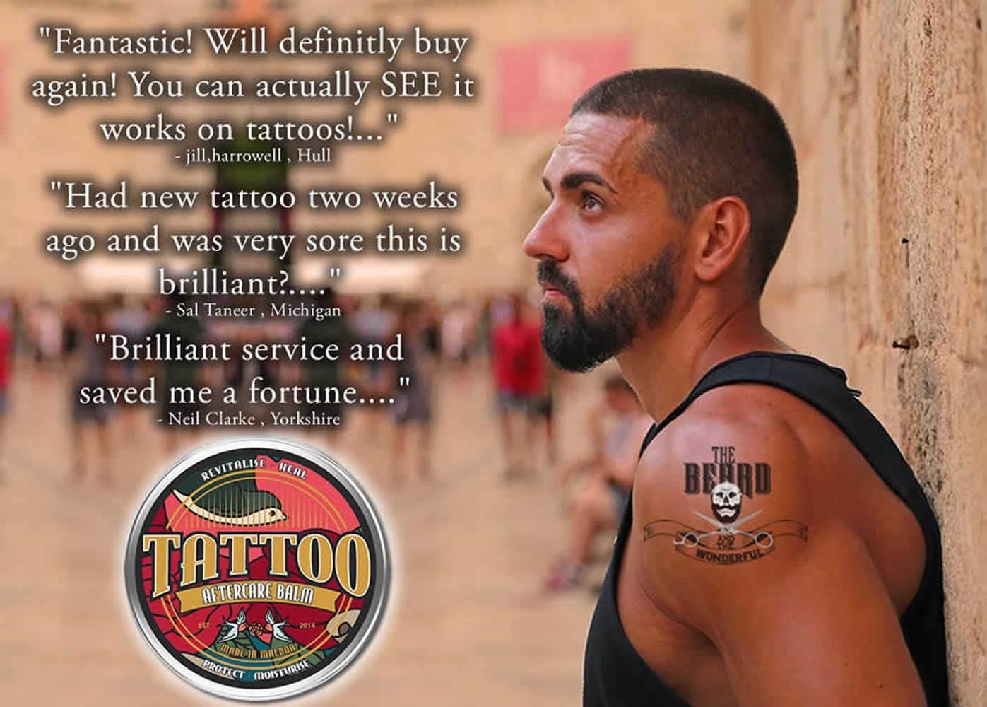 Bálsamo para cuidados posteriores de tatuaje Revitaliza, sana ...