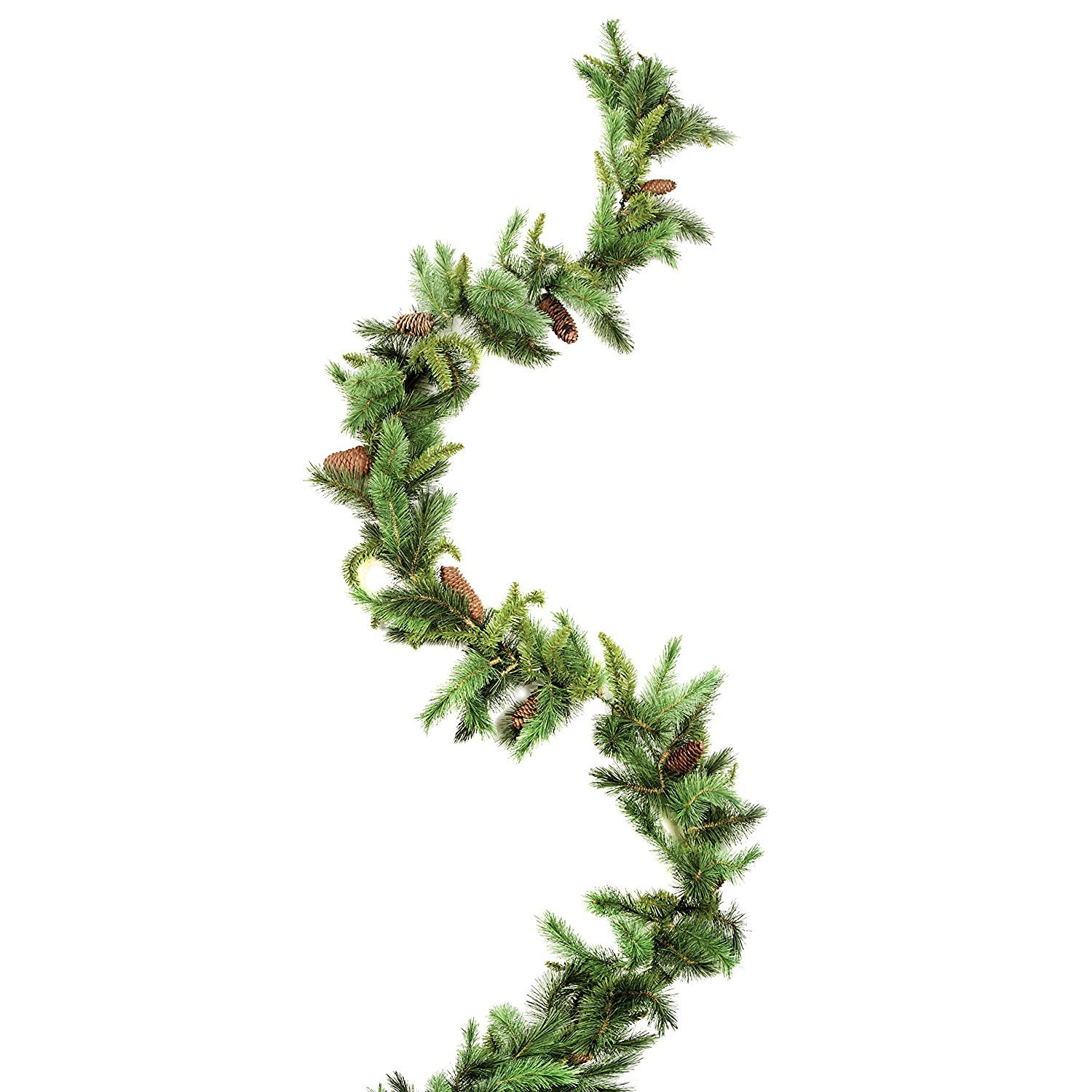 Majestic Garland with Pine Cones - 9 feet (6 pack)