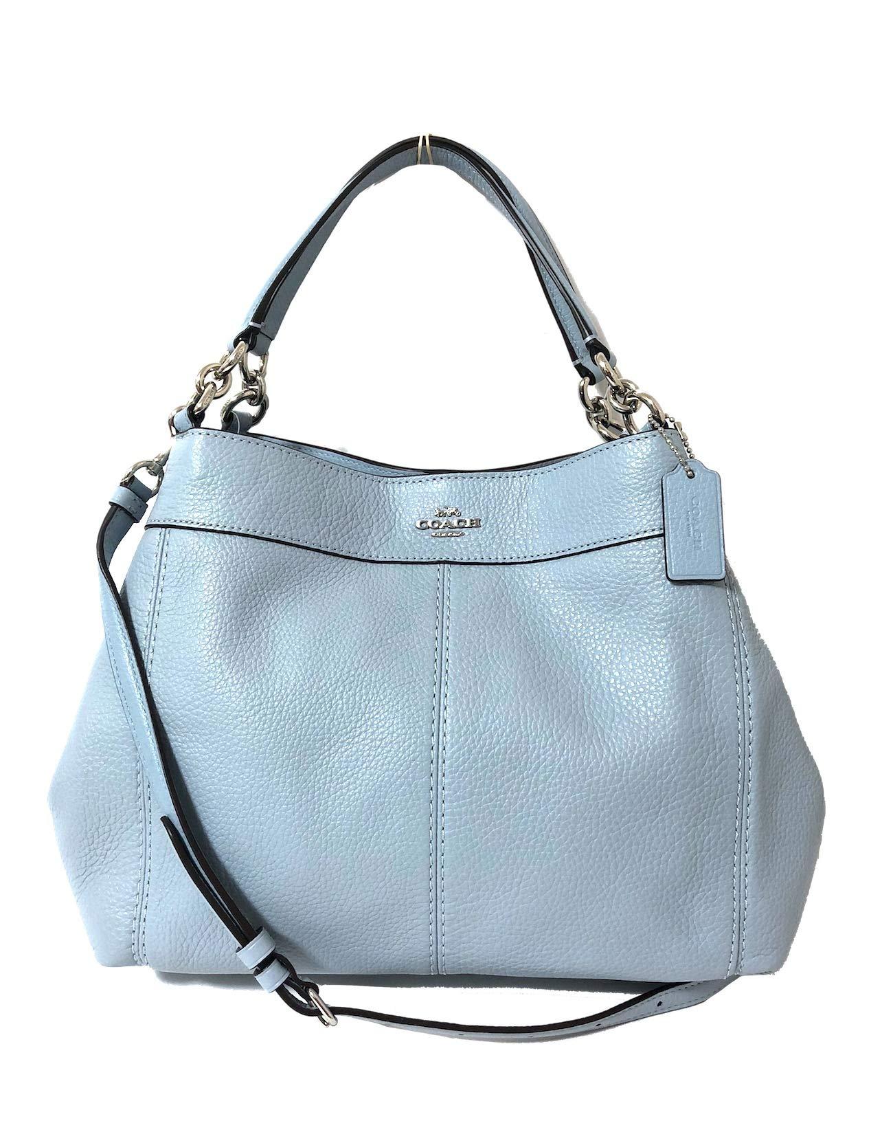 fa3bb08551f7 Galleon - Coach Pebbled Leather Small Lexy Shoulder Bag Handbag (SV Pale  Blue)