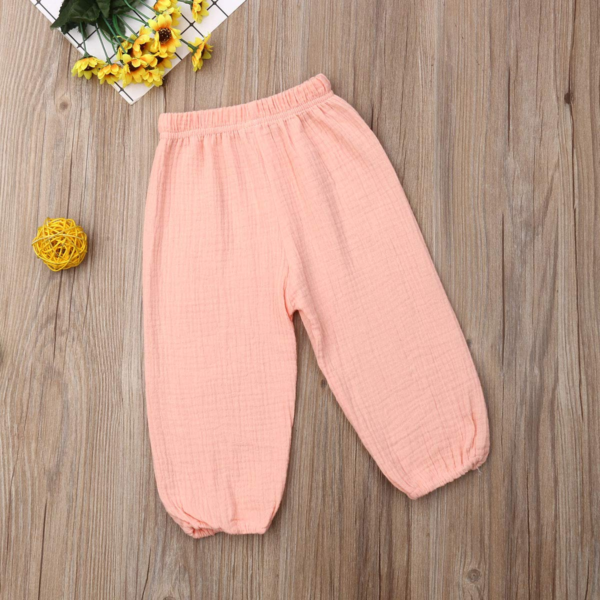 BULINGNA Cute Toddler Kids Baby Boy Girl Casual Eelastic Harem Long Pants Bloomers