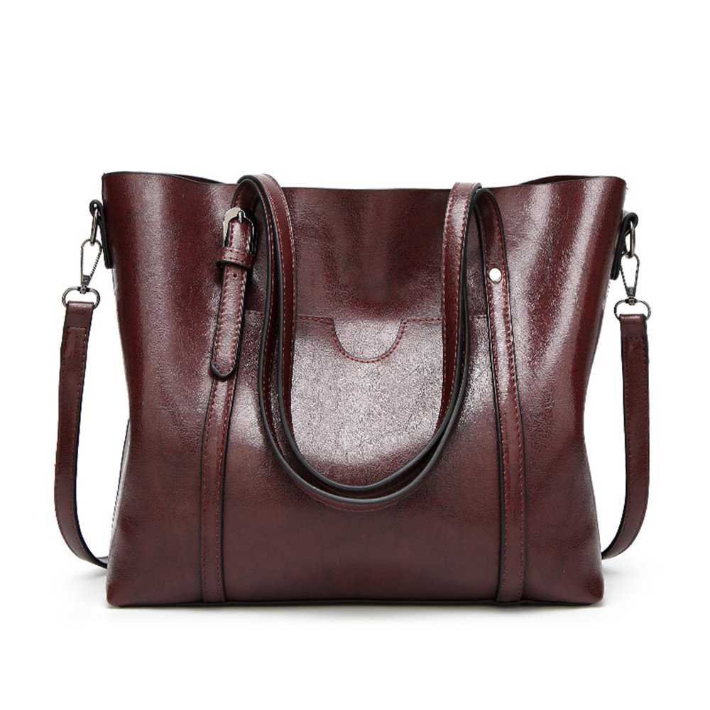 Large Work Tote Bags For Women Designer Top Handle Satchel Handbags Shoulder Messenger Purse Coffee