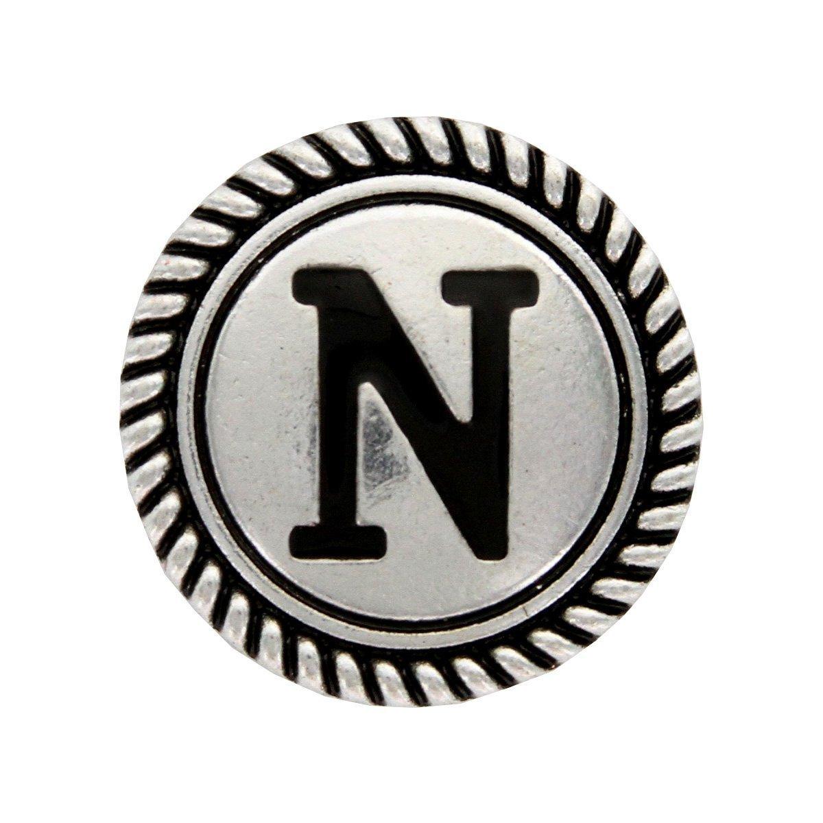 Y Cross Brand Wild Rag Scarf Slide 1 1//8 Alphabet Letter N Initial