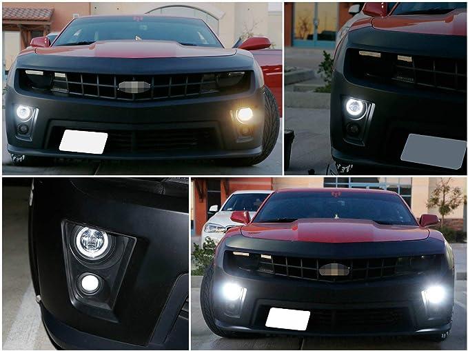 LED Fog Light Protekz Kit 5202 6000K CREE for 2010-2013 Chevrolet CAMARO w//o HI