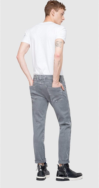 Replay Hyperflex™ Slim Fit Anbass Jeans | Blackboard Dark Grey