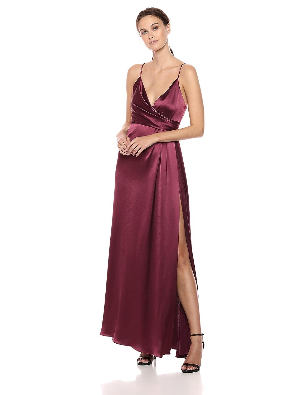 Pandora Jill Jill Stuart Women's Satin Wrap Slip Dress
