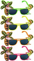 Tropical Party Novelty Sunglasses - Single - Assorted Colours