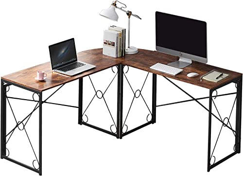 VECELO L-Shaped Corner Computer Home Office Desk Work Station