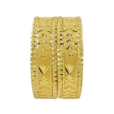 Bridal & Wedding Party Jewelry 18k Goldplated Ethnic Bollywood 6pc Bangle Set Indian Women Bracelet Jewellery