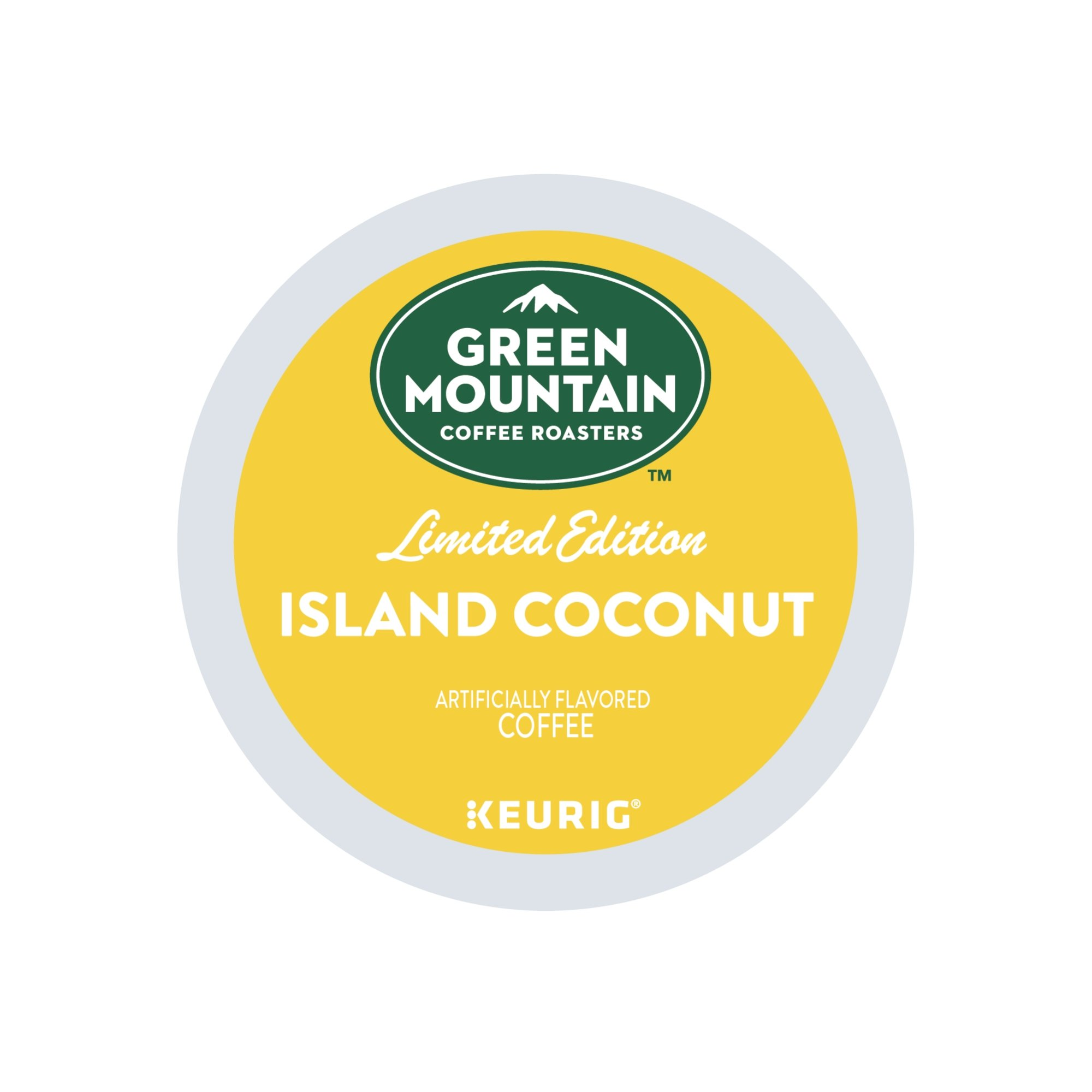 Green Mountain Coffee Roasters Island Coconut, Single Serve Coffee K-Cup Pod, Flavored