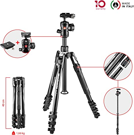 Manfrotto Befree 2N1 tripode Digitales/cámaras de película 3 Pata ...