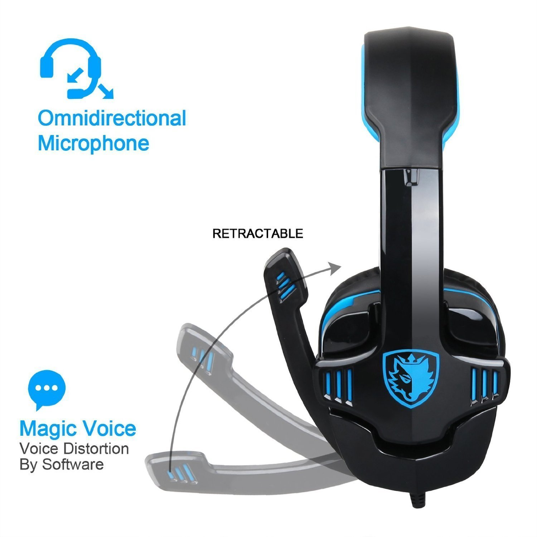 oevan sa708gt 3.5mm gaming cuffie con microfono cancellazione del suono  musica gioco cuffia per ps4 xbox 360 compresse pc di telefoni cellulari   Amazon.it  ... 364ba58f4eb7